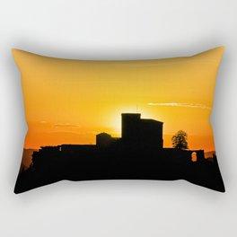 Trifels castle in dawn Rectangular Pillow