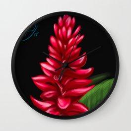 Flower Study Wall Clock