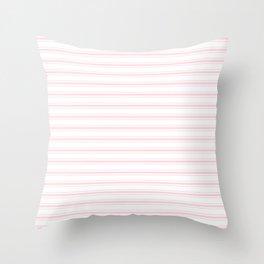 Wide Pastel Pink and White Mattress Ticking Throw Pillow
