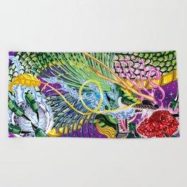 Dragon Of The Rose Beach Towel