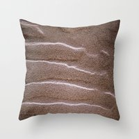 sand Throw Pillows featuring sand by  Agostino Lo Coco