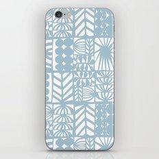 light blue patchwork iPhone Skin