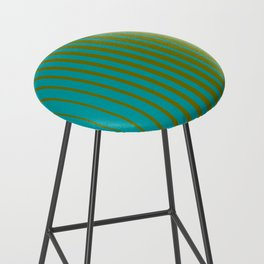 gradient stripes aqua olive Bar Stool