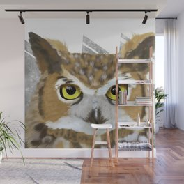 Great Horned Owl & Poly Thoughts Wall Mural