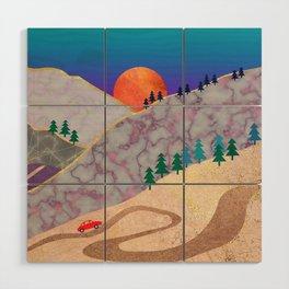 Mountain View Wood Wall Art
