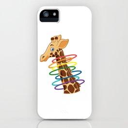 Giraffe Funny Animal Baton Twirler Hula Hoop Hula Hooping Gymnasts Wildlife Gift iPhone Case