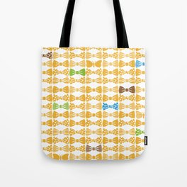 butterfly tie +yellow Tote Bag