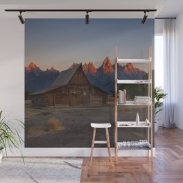 Moulton Barn - Sunrise in Grand Tetons Wall Mural