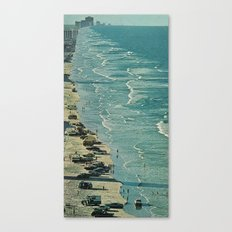 the encroaching wave Canvas Print