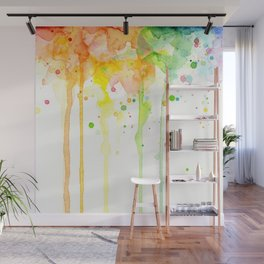 Rainbow Watercolor Pattern Texture Wall Mural