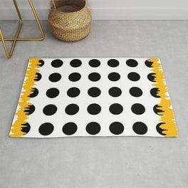 Black - White - Yellow Rug