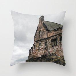glimpse of edinburgh castle Throw Pillow