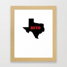 Beto O'Rourke Senate Texas Democrat Progressives Framed Art Print