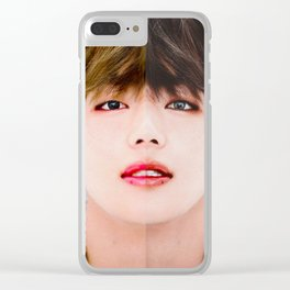 Two sides of Taehyung Clear iPhone Case