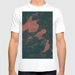 Madison Map Red T-shirt