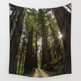 Redwoods Make Me Smile - Nature Photography Wall Tapestry