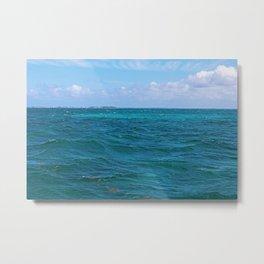 The Caribbean Sea Metal Print