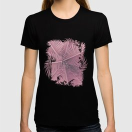 Pink Palm Leaves T-shirt