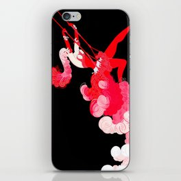 "Art Deco Illustration ""Trapeze"" iPhone Skin"
