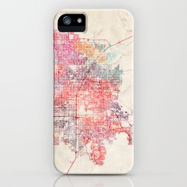 Henderson map Nevada painting iPhone Case