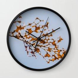 skeleton leaf Wall Clock