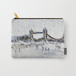Tower bridge and Southbank London Carry-All Pouch