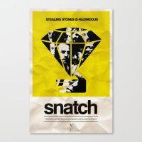 snatch Canvas Prints featuring SNATCH by childoftheatom