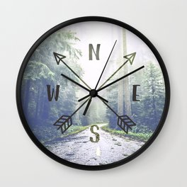 Forest Compass Wall Clock