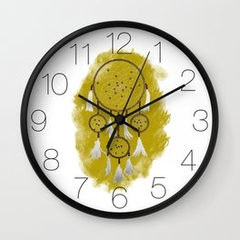 Classic Dreamcatcher: Sand background Wall Clock