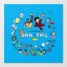 The Vortex of Everything Dan and Phil Canvas Print
