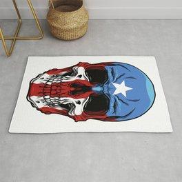 Puerto Rico Skull - Boricua Pride - Puerto Rican Rug