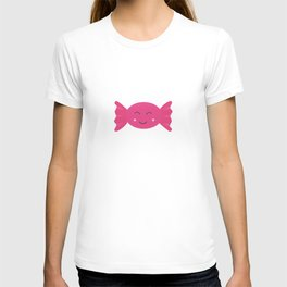 Pink candy bonbon with smile T-shirt