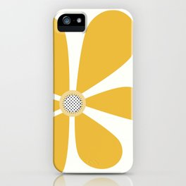 Big Happy Yellow Flower iPhone Case