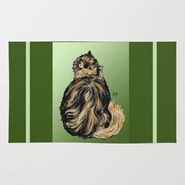 Tortoiseshell Cat - by Nina Lyman of Cats By Nina Rug