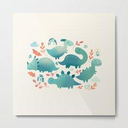 Baby dinosaurs Metal Print
