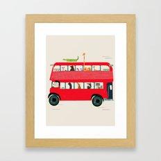 The big red bus Framed Art Print