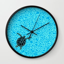Sea Turtle by Black Dwarf Designs Wall Clock