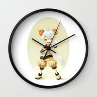 pumpkin Wall Clocks featuring Pumpkin by Freeminds