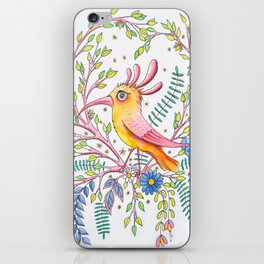 serious bird iPhone Skin