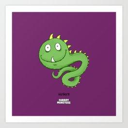 Whipilworm Art Print