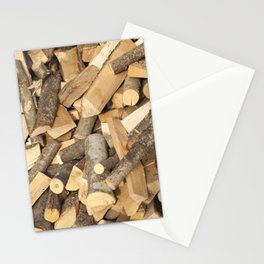 firewood wood Stationery Cards