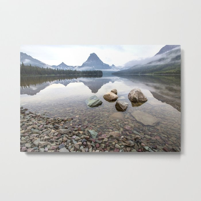 Rocky Lake Mountains Metal Print