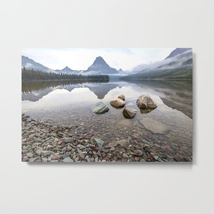 Rocky Lake Mountains Metal Print