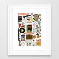 royal tenenbaums Framed Art Prints featuring The Royal Tenenbaums by Shanti Draws