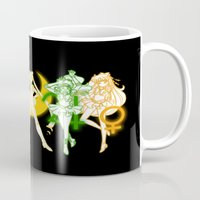 sailor moon Mugs featuring Sailor Scouts / Sailor Moon by Sara Eshak
