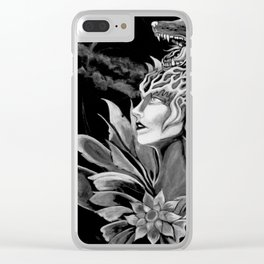 Wolf Goddess Clear iPhone Case