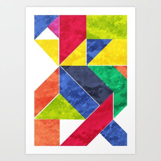 GeoAfricanHeat Art Print