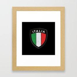 italia hemblem Framed Art Print