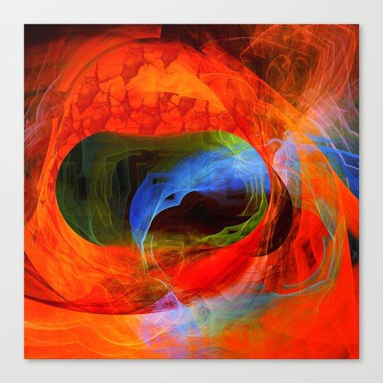 Fire and smoke Canvas Print
