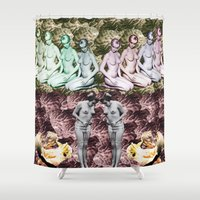 spanish Shower Curtains featuring Spanish Band by Emilio Morones